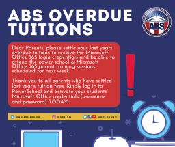 ABS OVERDUE TUITIONS